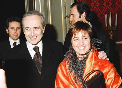 Jose Carreras with son Alberto, daughter Julia and nephew David Gimenez